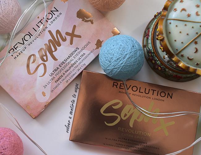 Paletas de Sombras de Ojos Makeup Revolution Soph X y Sophx  X extra Spice