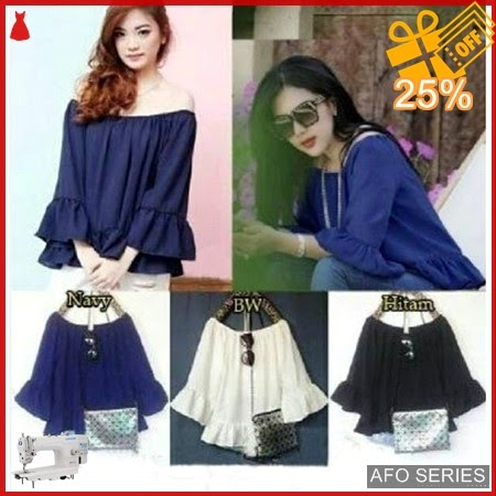 AFO642 Model Fashion Blouse Syahrini LA 108 P Murah BMGShop