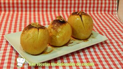 Manzanas al horno con frutos secos