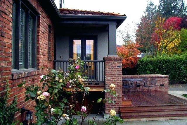 Red Brick Houses With Black Trim Design Indulgence