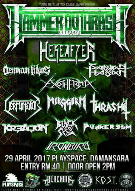 hammer outrash underground gigs 29 april 2017 kappasm