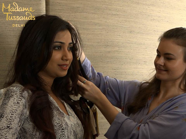 Shreya Ghoshal's wax figure at Madame Tussauds Delhi