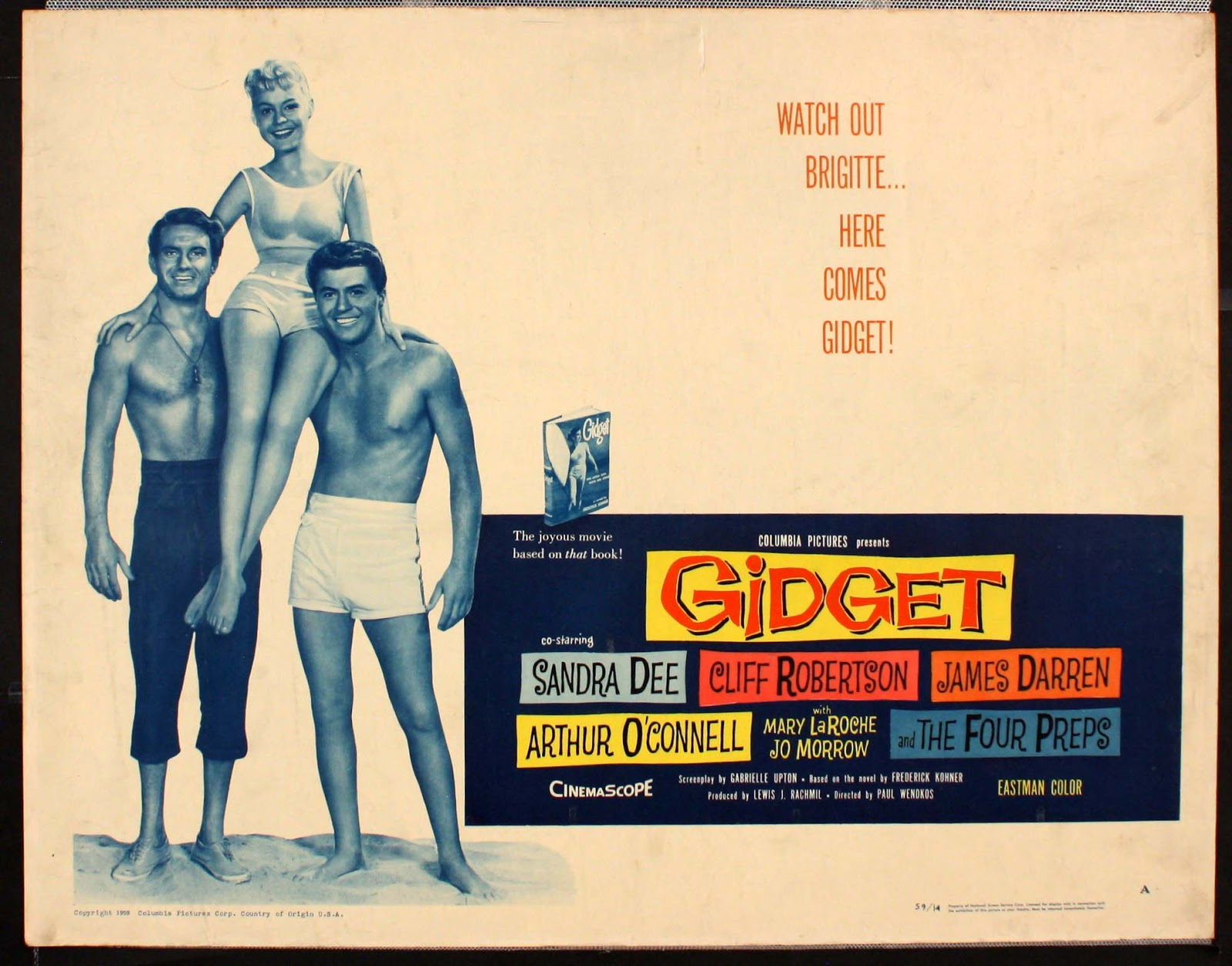 Movie and TV Screencaps: Gidget (1959) - Directed by Paul ...