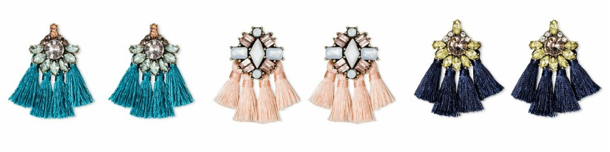 SUGARFIX by Bauble Bar Crystal Tassel Statement Earrings $10 (reg $13)