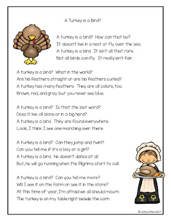 Is a turkey a bird? This r-controlled poem and activity are great for Thanksgiving Time. There is a poem, sort, and anchor chart.