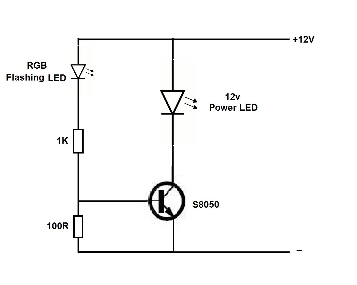 blinking led ckt diagram schematics online led flasher circuit blinking led ckt diagram wiring