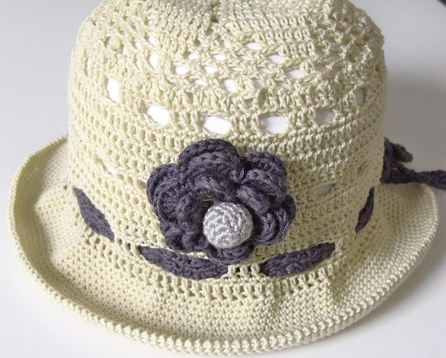crochet patterns, how to crochet, sun hats, brimmed hats, baby hats,