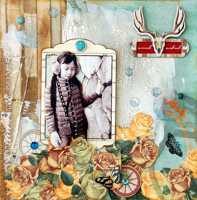 Wonderful Canvas by Irene Tan using BoBunny Bella Rosa collection