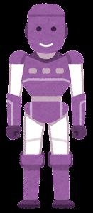 人型ロボットのイラスト(紫)