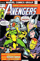 Avengers v1 #135 marvel comic book cover art by Jim Starlin