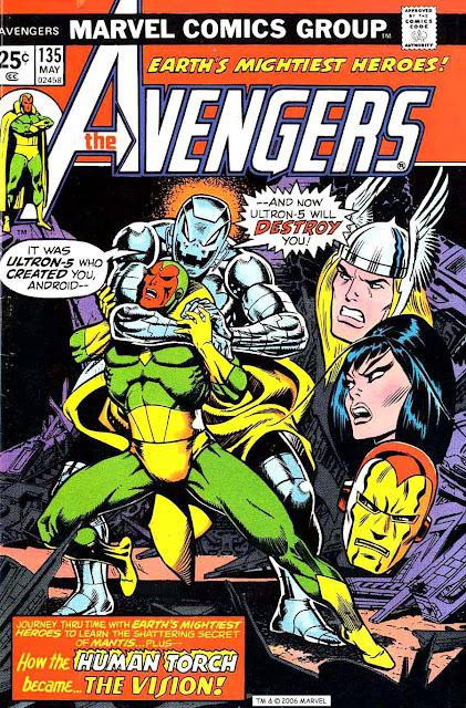 Avengers v1 #135 marvel comic book cover art by Jim Starlin