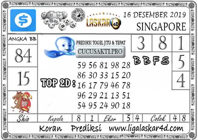 Prediksi Togel SINGAPORE LASKAR4D 16 DESEMBER 2019