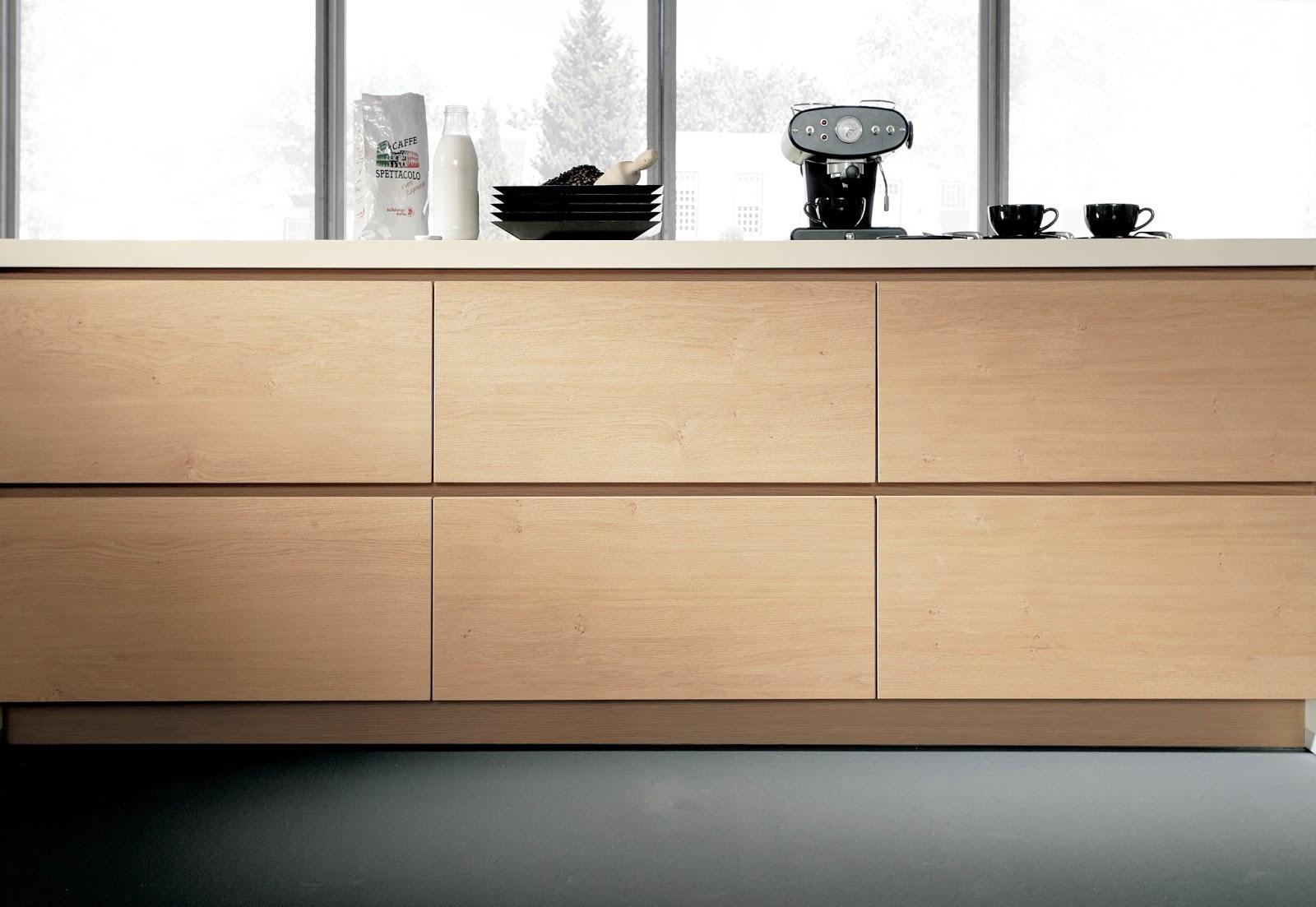 cuisine design sans poign es en bois. Black Bedroom Furniture Sets. Home Design Ideas