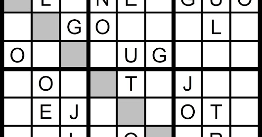 New Word Sudoku Puzzle for Tuesday, 7/25/2017