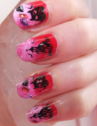Halloween Stamping Nail Art bm305