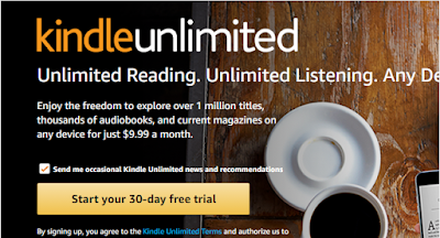 Screenshot: Kindle Unlimited signup page