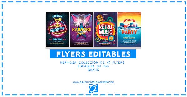 45 Flyers editables gratis en PSD para descargar 2018