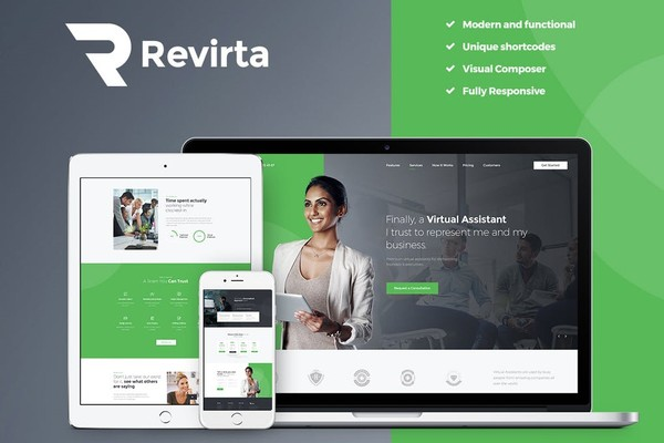 Revirta Virtual Assistant Wordpress Themes