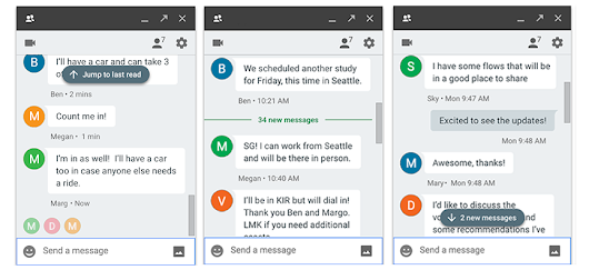 Jump right back into the conversation with redesigned unread messages indicators in Hangouts