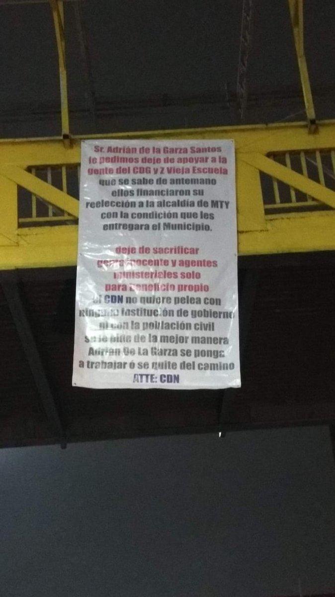 Narcomantas en Monterrey para alcalde