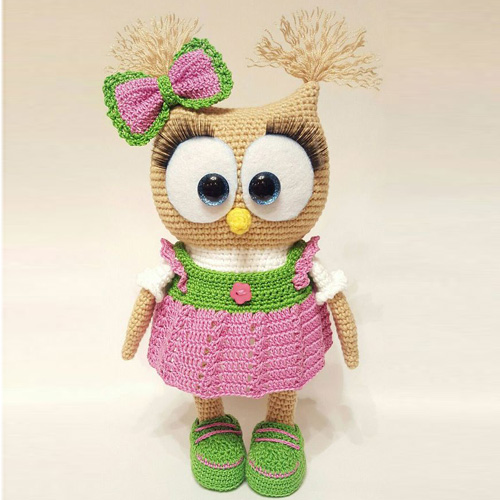 Cute Owl in Dress Amigurumi - Free Pattern
