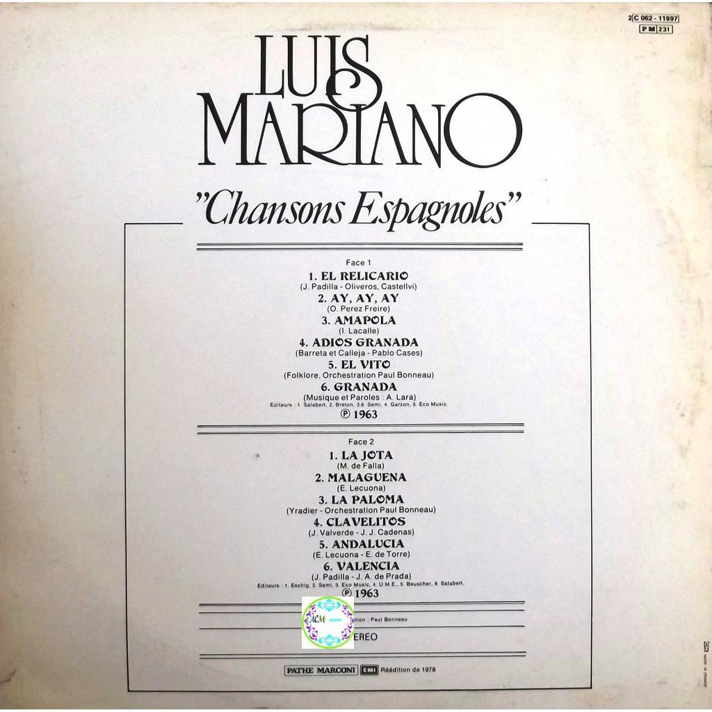 musique luis mariano