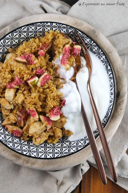 Orientalische Bulgurpfanne | Rezept | Essen | Kochen | Hähnchen | Weight Watchers