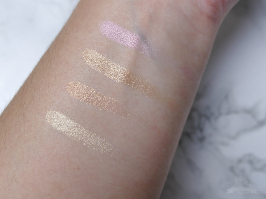 Afterglow Highlighter Palette Urban Decay Swatches