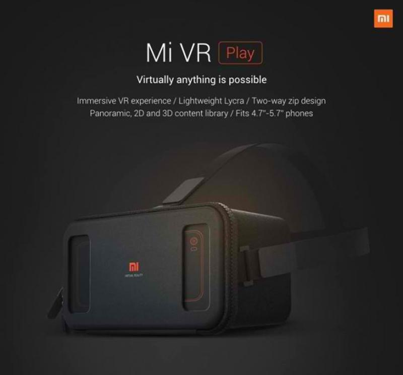 Xiaomi Mi VR Play Headset Announced!
