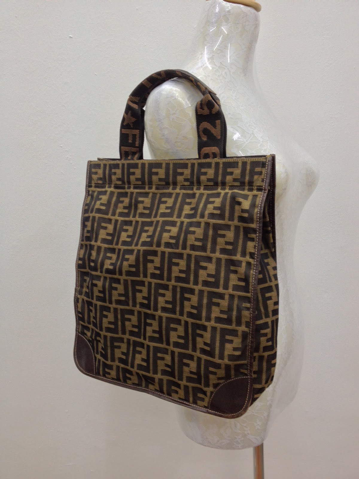 D0rayakeebag Authentic Fendi Zucca Tote Bag Sold
