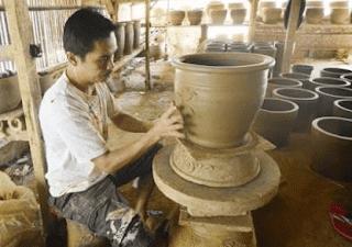Gambar Teknik Pembuatan Keramik dan Prosesnya