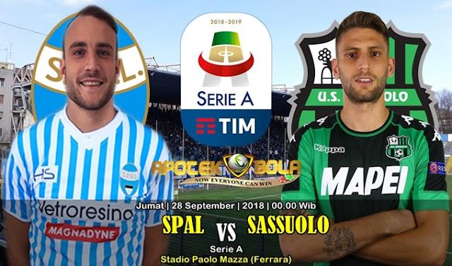 Prediksi SPAL Vs Sassuolo 28 September 2018