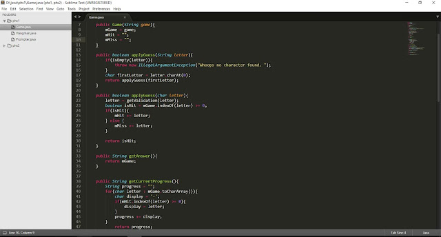 tampilan sublime text 3