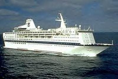 Ocean Gala in Happier Days as Royal Caribbean's Viking Serenade - Ship was Beached in India for Scrapping.