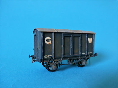 A Rhymney Railway van from a Ratio Iron Mink kit