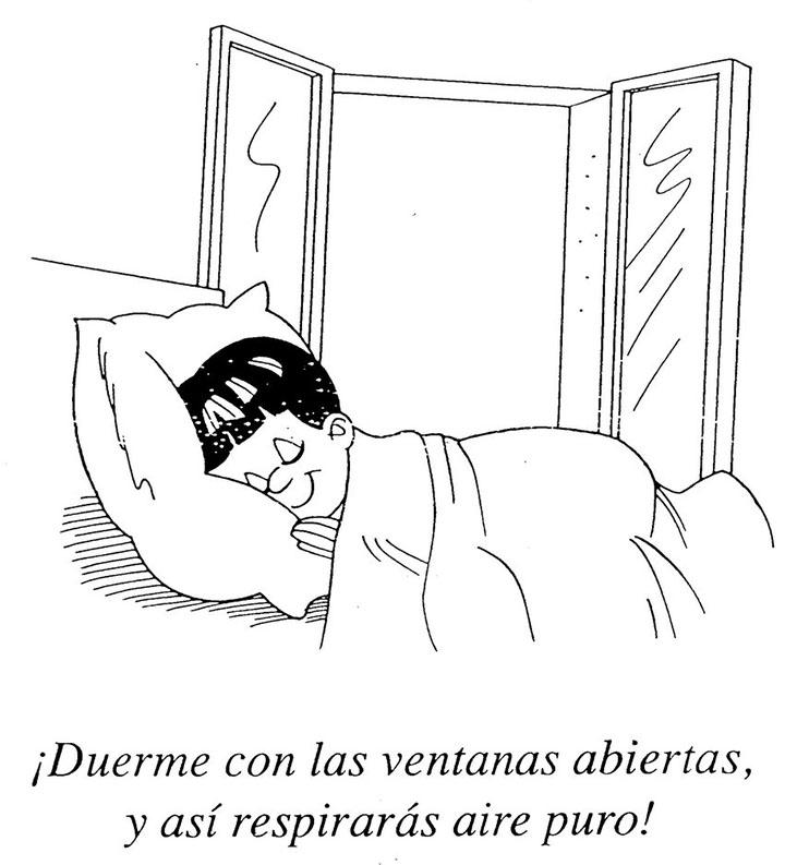 Duerme con las ventanas abiertas