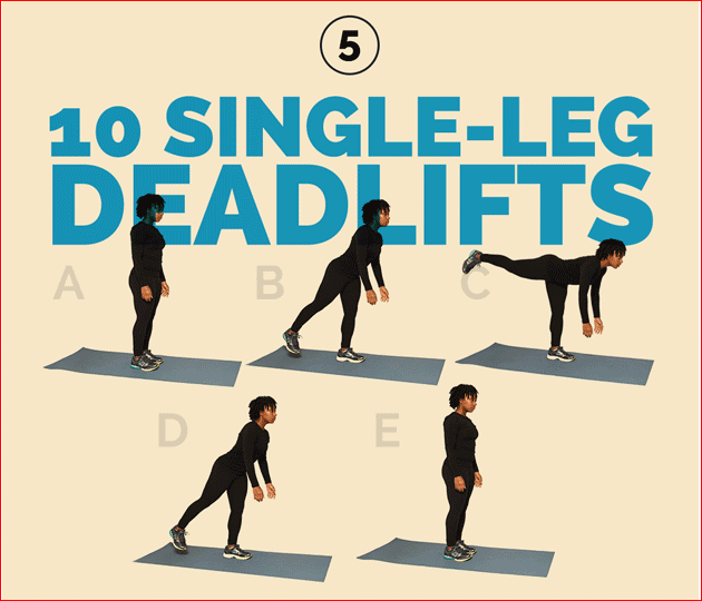 10 Single-leg deadlifts