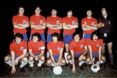 Formación de Chile ante México, amistoso disputado el 20 de septiembre de 1973