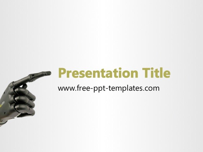 robotic ppt template