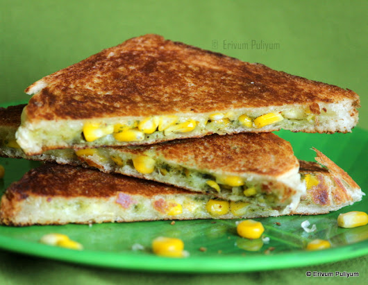 Corn Cheese Sandwich( Step By Step Pics) ~ Quick Breakfast