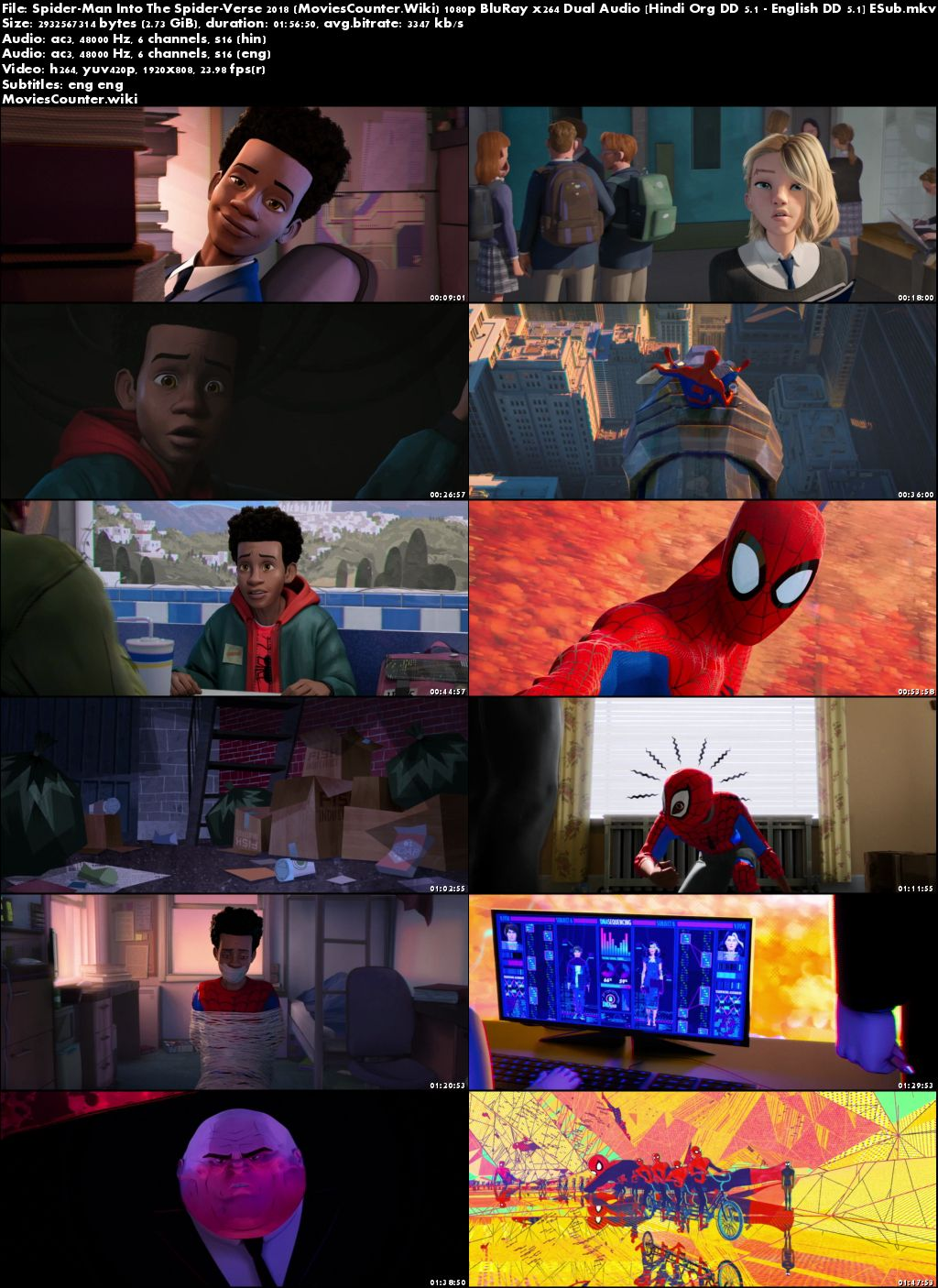 Screen Shots Spider-Man: Into the Spider-Verse 2018 Dual Audio HD 1080p