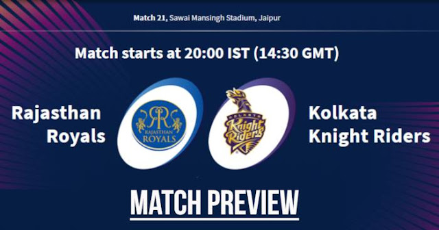 VIVO IPL 2019 Match 21 RR vs KKR Match Preview, Head to Head and Trivia