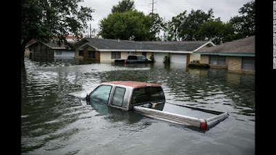 فيضانات تكساس جراء إعصار هارفى
