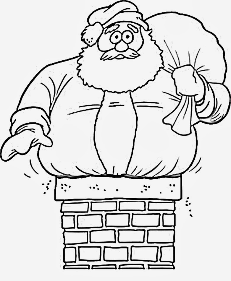 7 Santa Claus Coloring Pages For Kids - Merry Christmas