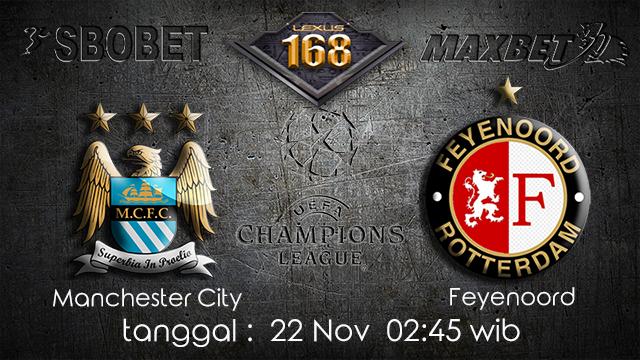 PREDIKSIBOLA - PREDIKSI TARUHAN BOLA MANCHESTER CITY VS FEYENOORD 22 NOVEMBER 2017 (UEFA CHAMPIONS LEAGUE)