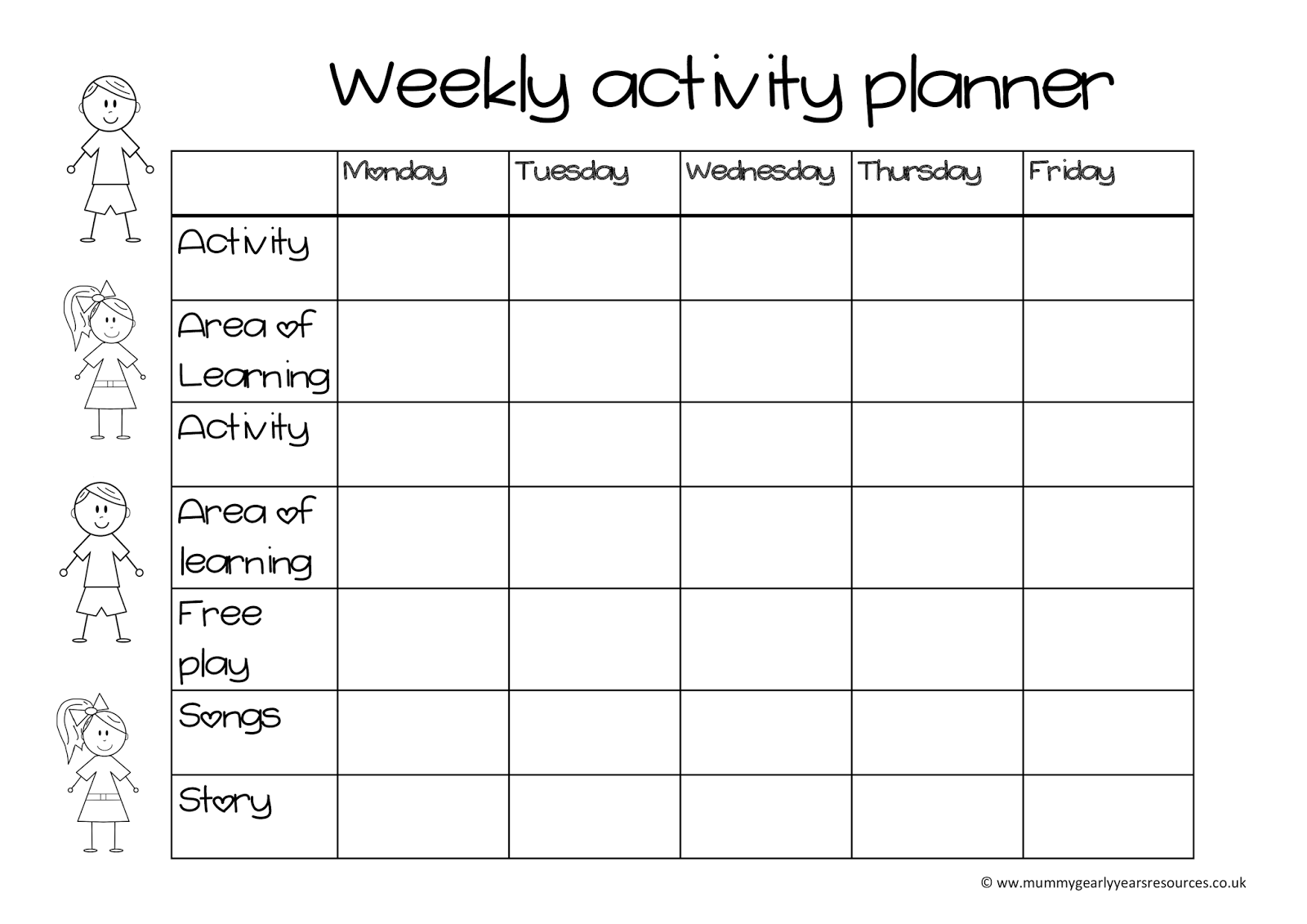 Search results for weekly planner template december 2014 for Activity timetable template