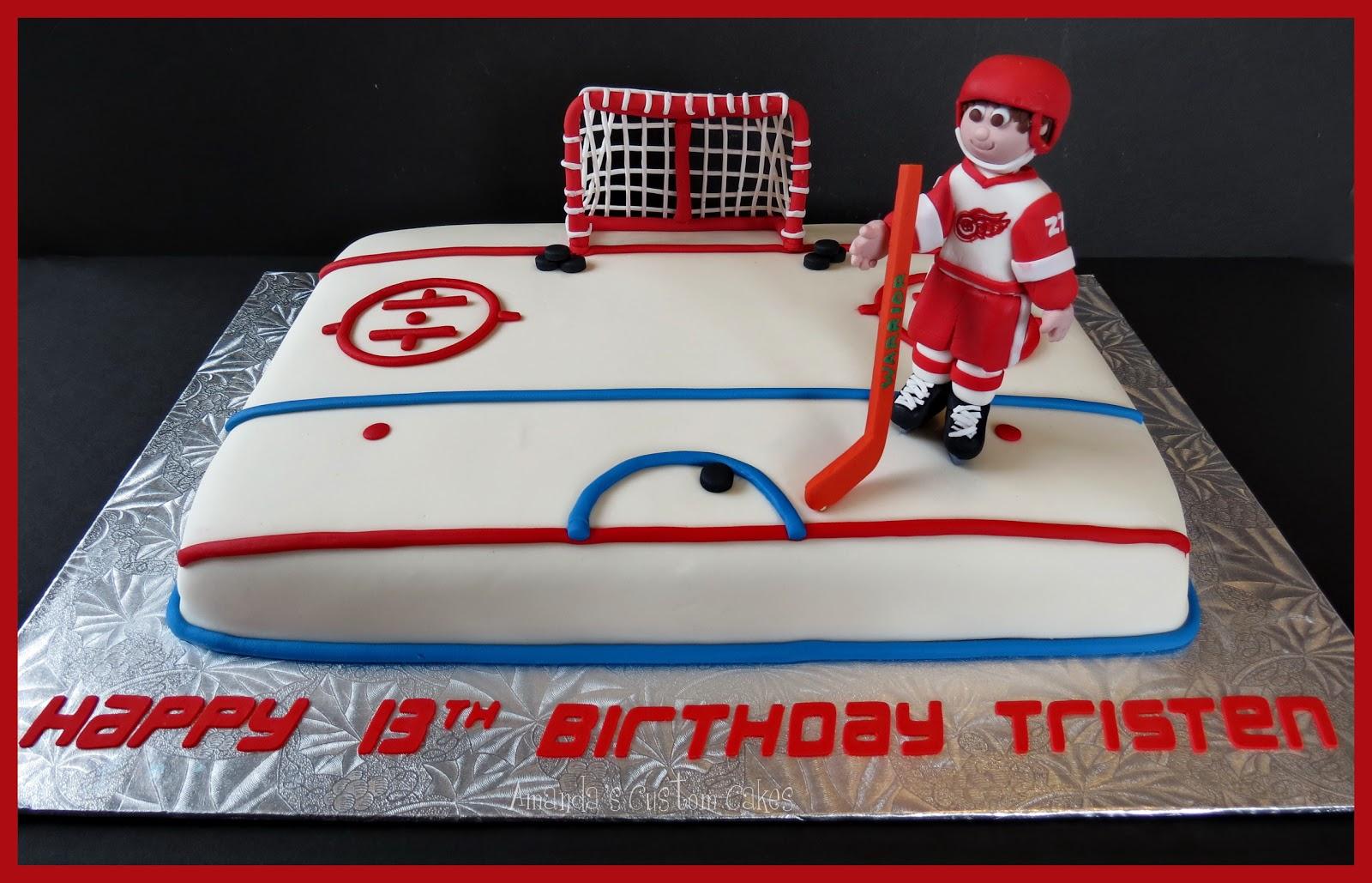Amandas Custom Cakes Hockey Cake