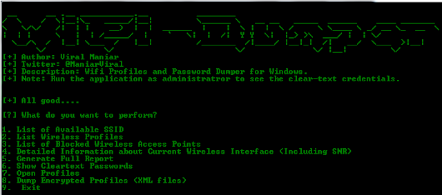 Wifi-Dumper: An Open Source Tool To Dump Wi-Fi Profiles And Clear Text Passwords