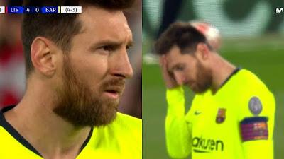 Messi em lágrimas, luta com torcedores após derrota para o Liverpool - Relatório