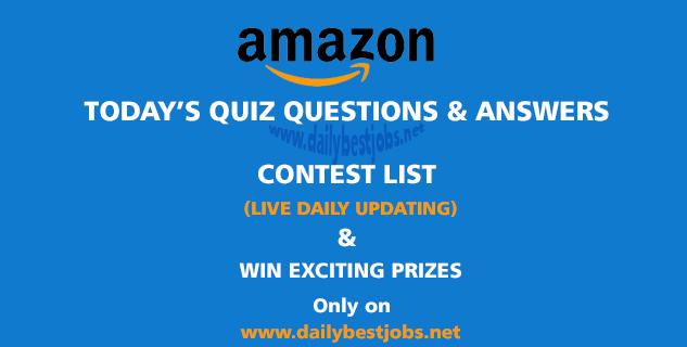 Amazon Quiz Answers Today, Amazon Quiz Time Answers